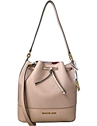 Trista Medium Drawstring Bucket Leather Shoulder Crossbody Bag in Various Colors