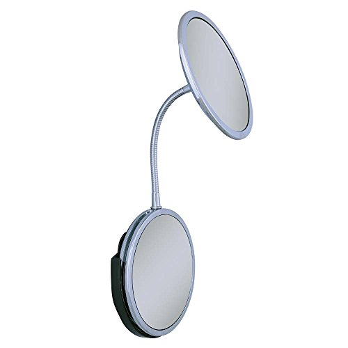 Zadro Triple Vision Gooseneck Vanity and Wall Mount Mirror, Chrome Finish