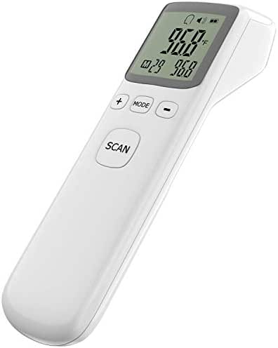 Forehead Thermometer, Infrared Baby Thermometer for Fever Clinical Digital Ear Thermometer for Surface Body with LCD Display Instant Reading for Baby Kids Adult Home Use