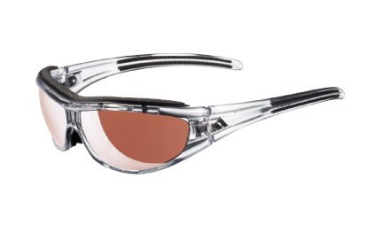 Adidas A126/00 6069 Transparent Black Evil Eye Pro L Wrap Sunglasses Golf, Cycl (Evil Eye Pro)
