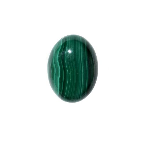 Malachite Gemstone Oval Flat-Back Cabochons 18x13mm (1 Piece) (Oval Malachite)