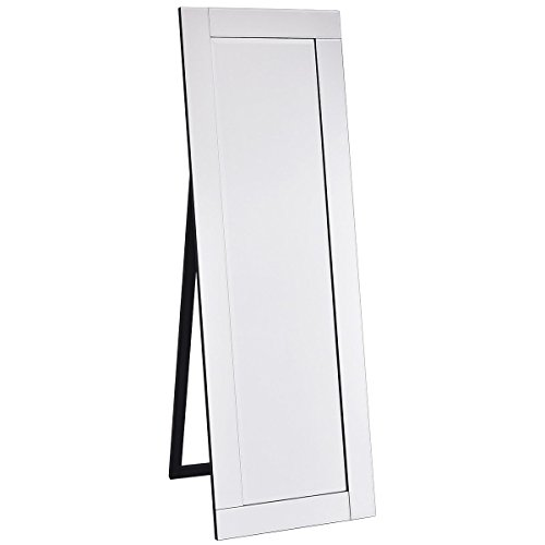 Giantex Full Length Dressing Mirror Wooden Frame Home Bedroom Floor Free Standing Mirror Silver (Mirrors Long Silver)
