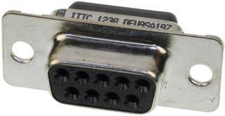 STANDARD D SUB RCPT HOUSING 1 piece ITT CANNON DEU9SA197F0 CONNECTOR 9POS