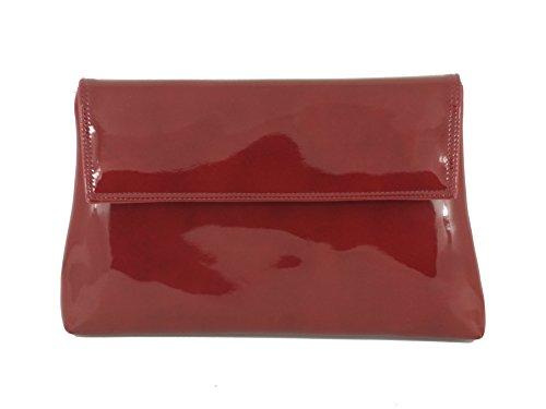 LONI - Cartera de mano para mujer gris gris Medium Burgundy Wine Red