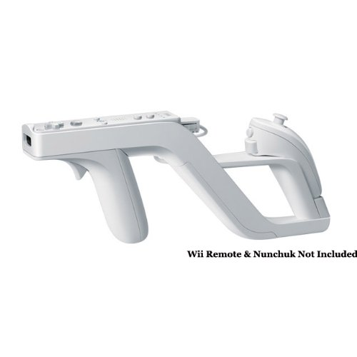 Zapper Light Gun for Nintendo Wii (Links Remote / Nunchuk for Shooting Games)