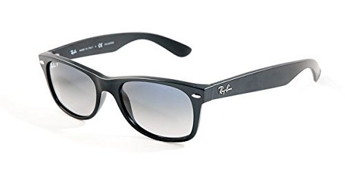 Ray Ban RB2132 Wayfarer 601S78 Matte Black/Polar Blue Gradient 55mm - Blue Gray Ban Gradient Ray