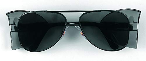 Mcr Safety Glasses Engineer - Crews 62112 Engineer Aviator Shape 58-mm Safety Glasses with Black Frame and Gra
