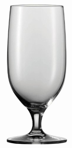 (Schott Zwiesel Tritan Crystal Glass Mondial Stemware Collection All Purpose Beverage, Water/Beer Glass 13.2-Ounce, Set of 6)