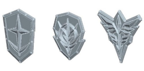 Bandai Hobby Builders Parts HD Emblem Relief 01