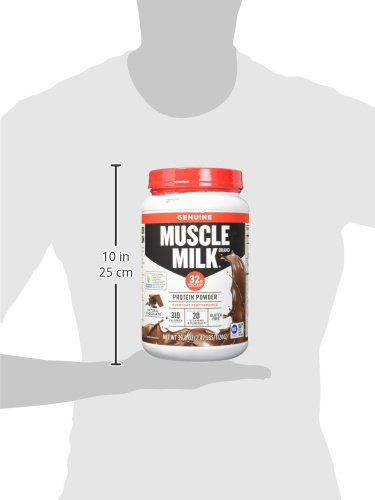 Muscle Milk Genuine Protein Powder, Natural Real Chocolate, 32g Protein, 2.47 Pound by Muscle Milk (Image #9)'