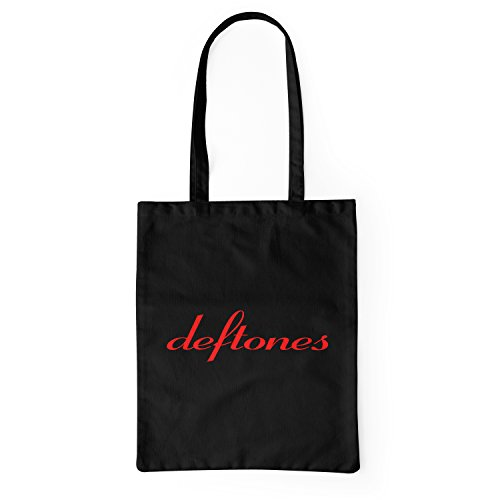 "Bolsa de tela ""Deftones Red Logo"" - tote bag shopping bag 100% algodón LaMAGLIERIA, Negro"