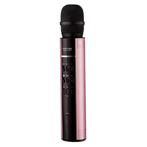 FINME Wireless Karaoke Microphone Speaker Handheld KTV Player Voice Changer (Rose Gold)