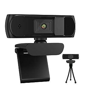 Flashandfocus.com 31rPj7z4eiL._SS300_ Webcam with Microphone, AutoFocus 1080P 5MP Web Camera with Dual Microphone & Privacy Cover USB Computer Camera for PC…