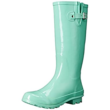 Western Chief Women's Classic Tall Rain Boot, Aqua, 10 M US