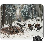 WILD TURKEY TRACKS Mouse Pad, Mousepad (Birds Mouse Pad)