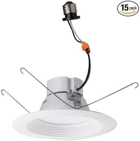 Baffle Pack of 15 pcs 5000K 5-6 LED Recessed Lighting Retrofit Kit Morris 72611