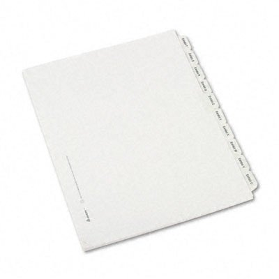 Allstate-Style Legal Index Dividers, 25-Tab, Exhibit A-Z, Letter, 26/Pack [Set of 3]