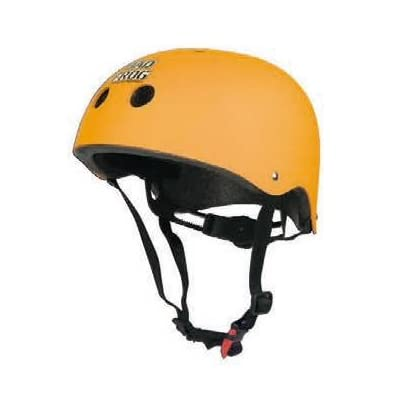Casque Bad Frog Skateboard Orange avec selle, casque