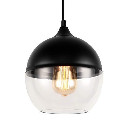 JEUNEU Modern Glass Pendant Lamp Kitchen Island Sink Restaurant Bar Living Room Bedroom Hanging Light Fixtures