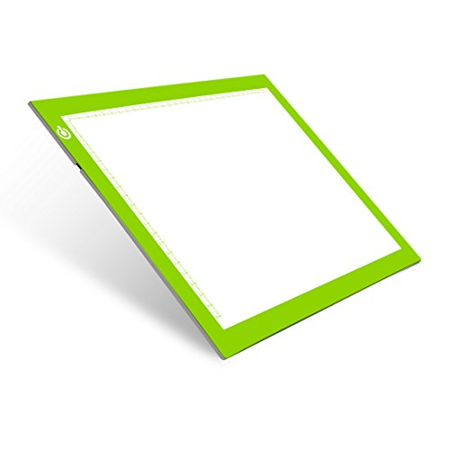 Tracing Light Table Ultra-thin A4 LED Copy Board NXENTC Light Pad Drawing Display Pad Brightness Adjustable Stencil Artist Art Tracing Tatto Table Green by NXENTC