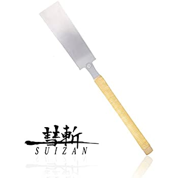 "SUIZAN Japanese Pull Saw Hand Saw 9-1/2"" Ryoba ( Double Edge ) for Woodworking"