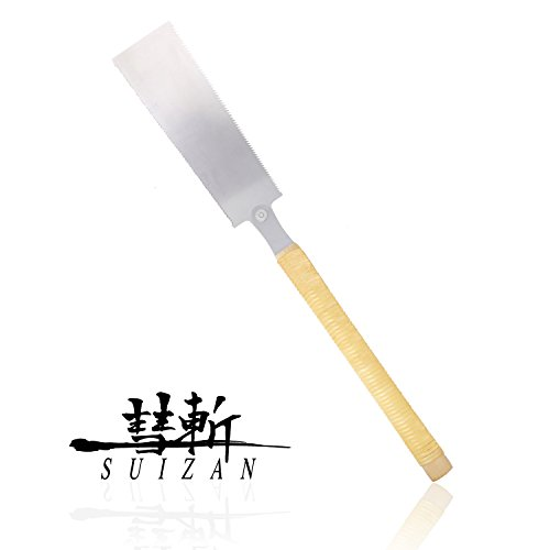 SUIZAN Japanese Pull Saw Hand Saw 9-1/2' Ryoba ( Double Edge ) for Woodworking