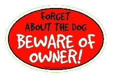 - Prismatix Decal Cat and Dog Magnets, Beware of Owner