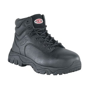 Work Boots, Compste Toe, 6In, Bl, 10-1/2W, PR