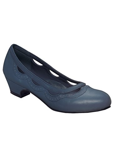 - Women's Adult Margie II from Angel Steps Footwear Dress Shoes 9.5 Medium US Women/Navy