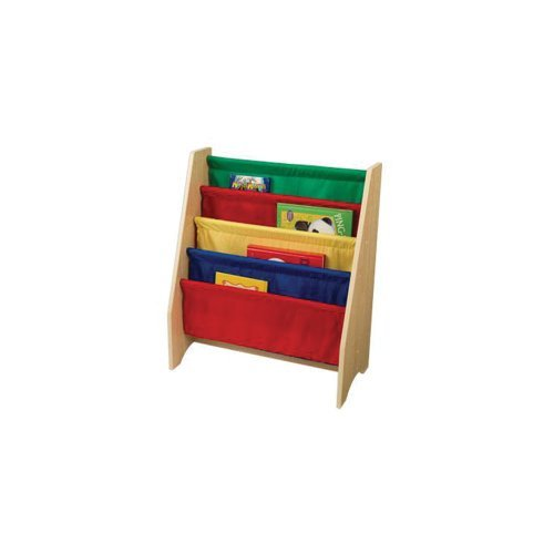 Kidkraft Home Indoor Kids Room Decorative Children Reading Book Storage Organizer Primary Sling Wooden Bookshelf By KidKraft