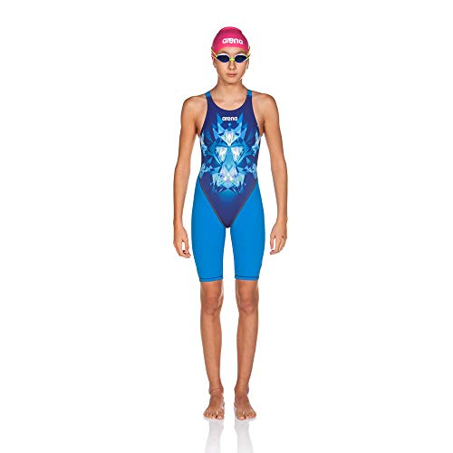 arena Girl's Powerskin ST 2.0 One Piece Swim Suit Open Back, Royal, 22