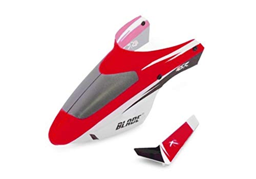Blade Complete Red Canopy with/Vertical Fin: BMSR