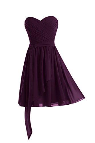 Lang Linie Bride Abendkleid A Chiffon Herz Grape Rabatte Festkleid Ballkleid Beliebt Ausschnitte Gorgeous A 0Ydwq01