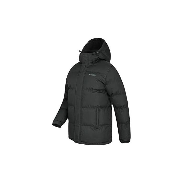 31rPw68aEwL Resistente al agua-Esta prenda de abrigo para hombre tiene un acabado impermeable para que el tejido resista el agua Capucha con forro de felpa-Para más comodidad, confort y calidez, ideal para climas inestables Poliéster