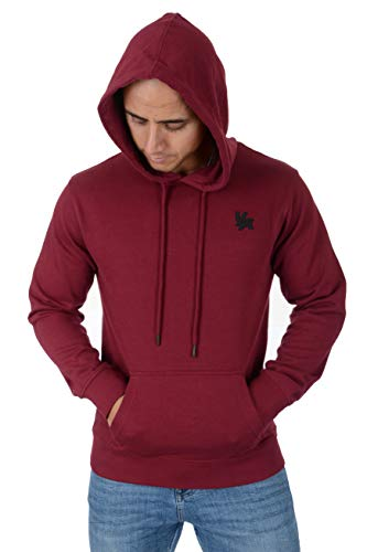 YoungLA Hoodies for Men Pullovers Sweatshirts Plain with Pockets 509 Burgundy Medium