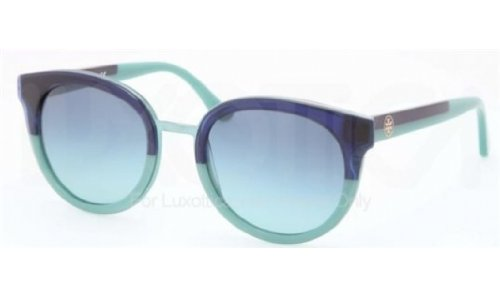 Tory Burch Women's TY7062 Navy-Mint/Blue Teal Gradient - Shop Burch Online Tory