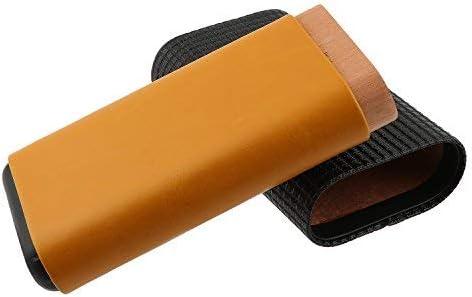 Estuche de cigarros con capacidad para 3 cigarros y cuchillo de cigarro de acero inoxidable. Estuche de cigarro de viaje en dos colores con relieve en madera de cedro. (Ⅰ): Amazon.es: Hogar