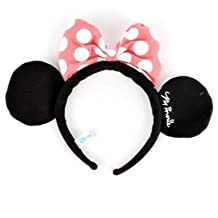 Minnie Mouse Costume Dress-Up Ears Headband Pink by Mickey Mouse