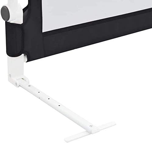 Bed Rail,Folding Child Safety Bed Guard Single Toddler Bed Rails Portable Baby Bedrail Sleep Security Bed Rails Baby Kids Protective Guard Gate for Kids Toddler Children Grey,102x42cm