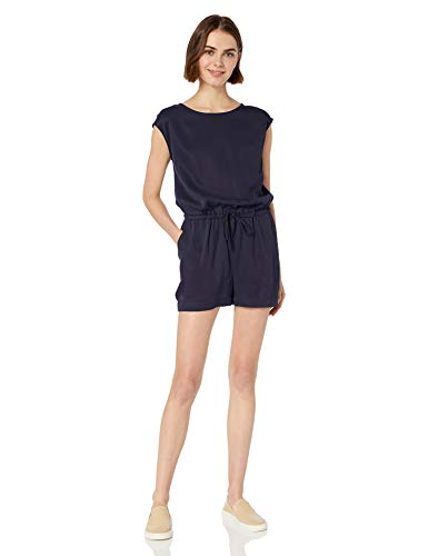 b892acb4121d5e Daily Ritual Women's Tencel Short-Sleeve Romper, Navy, ...