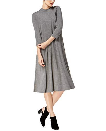 Eileen Fisher Women's Tencel Blend Mock-Neck A-Line Dress (Ash, Small)
