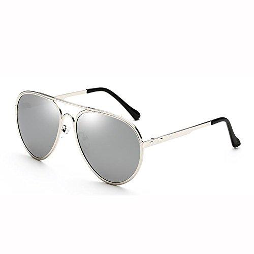 UV Color Hipster Hembra Gafas Cara 5 Polarizada Anti Redonda xin Gafas Metal Engánchate Sol WX De Street Beat 5 Luz 1AgqTO