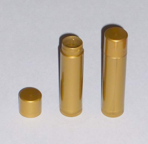 25 New Empty GOLD Lip Balm Tubes - 0.15oz (Chapstick containers) ()
