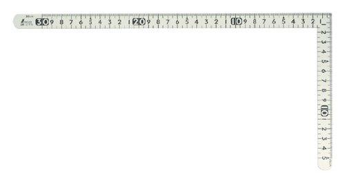 シンワ 曲尺小型 ホワイトサンデー 30x15cm 12476
