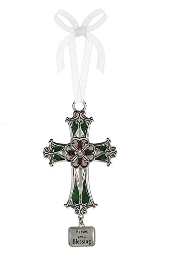 Ganz Cross Ornament - Nurses are a (Blessing Cross Ornament)