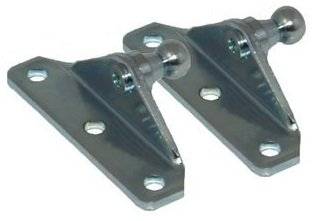 10MM Ball Stud Bracket for Gas Spring/Prop/Strut (2 Pack)