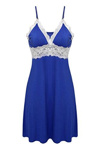 Ekouaer Sleepwear Womens Chemise Nightgown Full Slip Lace Lounge Dress ()