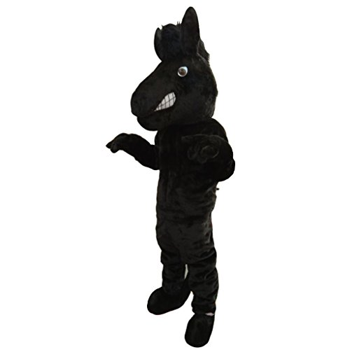 CosplayDiy Unisex Black Horse Mascot Costume (Horse Fancy Dress Ideas Halloween)