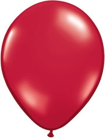 "Red Qualatex 16/"" Latex Balloons x 5"