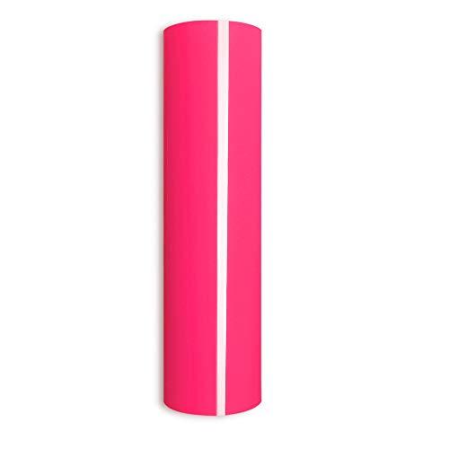 Neon Pink Heat Transfer Vinyl,PU Neon Pink Iron-on Vinyl Heat Transfer Vinyl Roll for DIY T-Shirts 、Idea Fabrics 0.8x5ft (Neon Pink)